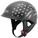 AFX FX-72 Single Inner Lens Beanie Stealth Helmet Flat-Black/White