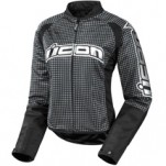 Icon Women's Hooligan 2 Glam Jacket Black (Closeout)