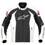 Alpinestars GP-R Perforated Leather Jacket White/Black