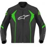 Alpinestars GP-R Perforated Leather Jacket Black/Green