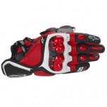 Alpinestars S-1 Leather Gloves Red