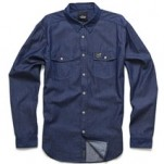 Alpinestars Men's Chambray Long Sleeve Shirt Indigo (Closeout)