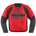 Icon Men's Overlord Type 1 Textile Jacket Red (Closeout)