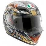 AGV Men's Grid Violin Key Helmet Black/Gold (Closeout)