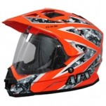 AFX FX-39DS Dual Sport Camo Helmet Urban Orange