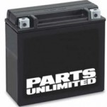Parts Unlimited AGM (Maintenance-Free) Battery for KL650-A/E KLR 87-13