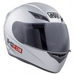 AGV K3 Solid Helmet Silver  (Closeout)