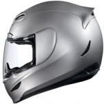Icon Airmada Gloss Helmet Solid Silver