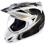 Icon Variant Carbon Cyclic Helmet White/Black/Gold (Closeout)