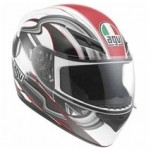 AGV K3 Chicane Helmet White/Red/Black (Closeout)