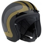 Biltwell Bonanza Multis Fury Helmet Gloss-Black/Gray/Met.-Gold