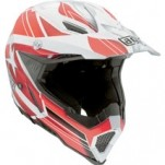 AGV AX-8 Evo Helmet Flagstars White/Red (Closeout)