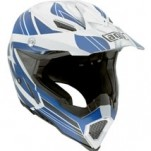 AGV AX-8 Evo Helmet Flagstars White/Blue (Closeout)