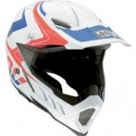 AGV AX-8 Evo Helmet Klassik White/Red/Blue (Closeout)