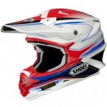 Shoei VFX-W Sear TC-10 Helmet White/Red/Blue