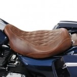 Mustang Seats Wide Brown, Diamond Stitch Tripper Solo Seat for FLHX 08-13