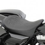 Carl Brouhard Designs Cross Design Low-Profile EZ on Solo Front Seat for FLHX 08-14