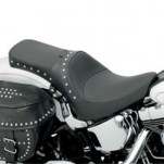 Drag Specialties One-Piece Solo Style Seat w/ Driver Backrest Option (w/ Studs) for FLST 00-13 (Closeout)