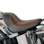 Roland Sands Design Enzo Solo Seat (w/ Distressed Brown Raised Detailing) for FLSTF 07-13 (Closeout)