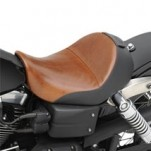 Saddlemen Lariat Solo Seat w/ GEL with Backrest Option for Dyna Models 04-13