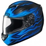 HJC CS-R2 Flame Block MC-2 Helmet Multicolor