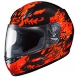HJC Youth CL-Y Flame Face MC-1 Helmet Orange/Black