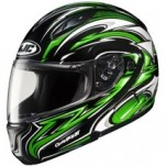 HJC CL-MAX II Atomic Modular MC-4 Helmet Black/Green/White