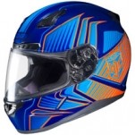 HJC CL-17 Redline MC-26 Helmet Blue/Light-Blue/Orange