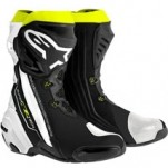 Alpinestars Supertech R Boot Black/White/Yellow-Fluo