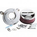 "Arlen Ness ""Billet Sucker"" Air Cleaner Assembly Stage I Kits Scalloped Chrome for Twin Cam Delphi EFI models 01-12"
