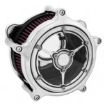 Roland Sands Design Clarity Air Cleaner Chrome for XL W/ CV Carb/Delphi Efi 91-12