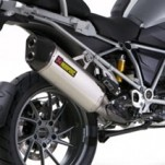 Akrapovic Slip-On Exhaust with Oval/D Muffler for R1200GS 13-14