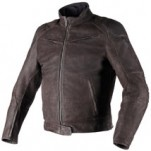 Dainese Black Hawk Leather Jacket Brown