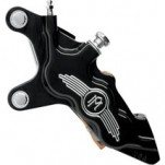 "Performance Machine 6-Piston Front Brake Caliper (Contrast Cut, Left) Using w/ 13"" Rotor for FLHT 00-07"