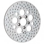 "Drag Specialties 11.8"" Polished Stainless Steel Drilled Rear Brake Rotor"