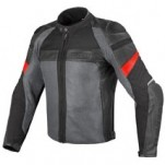 Dainese Air Frazer Textile + Leather Jacket Black/Antracite