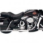 Bassani Power Curve True-Dual Crossover Header Pipes (Chrome) for Baggers for FLHX 85-06