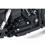 Vance & Hines Shortshots Staggered Full Exhaust Black for FXDB/I 06-11