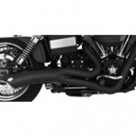 Vance & Hines Big Radius 2-Into-1 Full Exhaust Black for FXDWG/I 06-11 (Closeout)