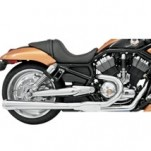 Bassani Road Rage 2-Into-1 Exhaust System (Chrome, Long Meg) for V-Rod 07-13 (Closeout)