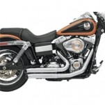 Bassani Firepower Series Exhaust (FireSweep, Chrome) for FXD 06-13