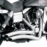 Drag Specialties Venom Radius Exhaust System Chrome for Dyna Models 06-11 (Closeout)