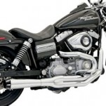 Bassani Road Rage II Mega Power Exhaust System (Chrome Long Megaphone) for V-ROD 07-13 (Closeout)