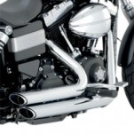 Vance & Hines Shortshots Staggered Full Exhaust System Chrome for Dyna 12-14