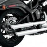 "Vance & Hines 3"" Round Twin Slash Slip-on Mufflers Chrome for FLS 12-14"