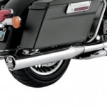 Vance & Hines Monster Rounds Slip-on Mufflers Chrome w/ Chrome Tips for FLT 95-14