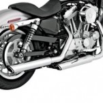 "Vance & Hines 3"" Round Twin Slash Slip-on Mufflers Chrome for XL 04-13"