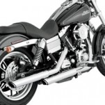 "Vance & Hines 3"" Round Twin Slash Slip-On Exhaust for FXDBI 91-16"