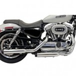 "Bassani 3"" Firepower Series Slip-On Muffler (Straight-Cut w/ Grooved, Black Billet End Cap) for XL 04-13 (Closeout)"