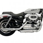 "Bassani 3"" Firepower Series Slip-On Muffler (Slash-Down) for XL 04-13"